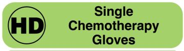 HD Single Chemotherapy Gloves Label