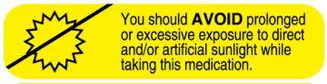 AVOID SUNLIGHT Medication Label