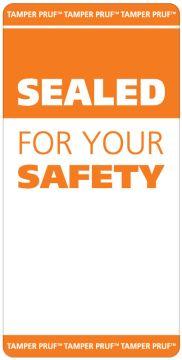 """Food Tamper-Evident Security Labels, 2"""" x 4"""""""