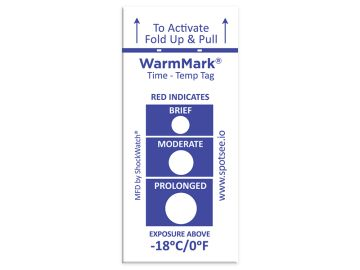 WarmMark Single-Use Temperature Indicator -18C/0F