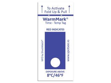 WarmMark Single-Use Temperature Indicator 8C/46F