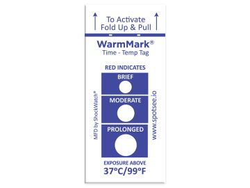 WarmMark Single-Use Temperature Indicator 37C/99F