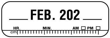 "X-Ray Date Label Feb 202__, 1-1/2"" x 1/2"""