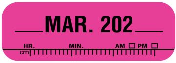 """X-Ray Date Label Mar 202__, 1-1/2"""" x 1/2"""""""