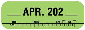 "X-Ray Date Label Apr 202__, 1-1/2"" x 1/2"""