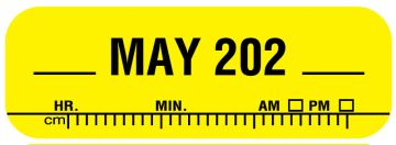 """X-Ray Date Label May 202__, 1-1/2"""" x 1/2"""""""