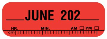 "X-Ray Date Label Jun 202__, 1-1/2"" x 1/2"""