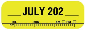 "X-Ray Date Label Jul 202__, 1-1/2"" x 1/2"""