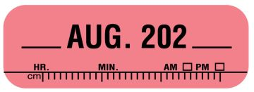 """X-Ray Date Label Aug 202__, 1-1/2"""" x 1/2"""""""