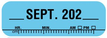 """X-Ray Date Label Sep 202__, 1-1/2"""" x 1/2"""""""