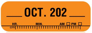 """X-Ray Date Label Oct 202__, 1-1/2"""" x 1/2"""""""