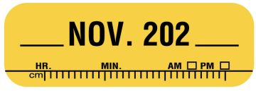 "X-Ray Date Label Nov 202__, 1-1/2"" x 1/2"""